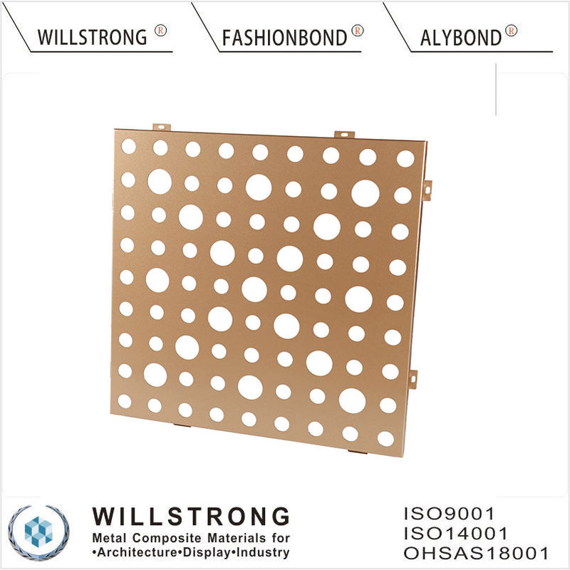 Gold AA1100 3003 H24 Suspended Aluminum Ceiling Panels For Indoor Building